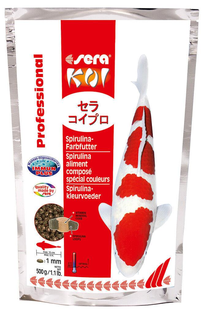 2er Pack sera KOI PROFESSIONAL SPIRULINA-farbfutter, 2 x 2.200 G