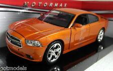 Motormax 1/24 Scale 73354 2011 Dodge Charger R/T Orange Diecast model car