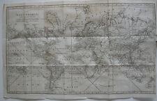 Jäck Reisen um die Welt 2 Bände 1827-1832 6 Kupfertafeln Weltkarte Mappemonde