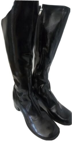 Authentic Black Gogo Boots Vintage 1970's NEVER WO