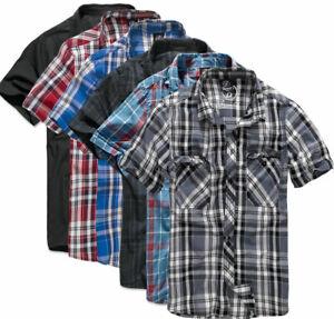 Brandit-Herren-Hemd-Shirt-Sommer-Karo-kurzarm-Freizeithemd-kariert-S-5XL-4012