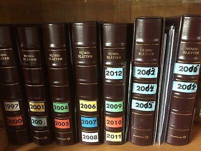 Fein Numisblätter Von 1997-2018 Kompl. Mit Münzen Und Blätter