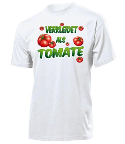 Costume CARNEVALE-COSTUME CARNEVALE-travestito come tomate T-Shirt Uomo S-XXL