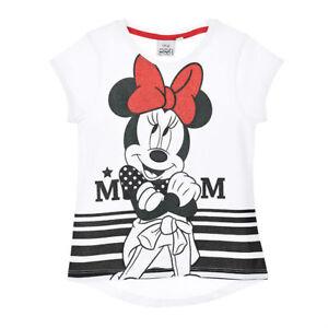 DISNEY-t-shirt-MINNIE-MICKEY-3-4-6-ou-8-ans-blanc-manches-courtes-NEUF