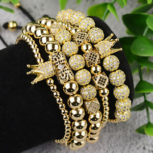 Clear Zircon Gemstones Pave Cactus Bracelet Connector Charm Beads Silver Gold