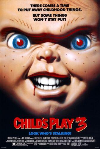 "CHILDS PLAY 3 Movie Silk Poster Chucky Jason Horror 11/""x17/"" 24/""x36/"""
