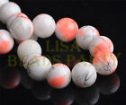 New 20pcs 10mm Round Glass Ball Jewelry Findings Loose Spacer Beads Orange