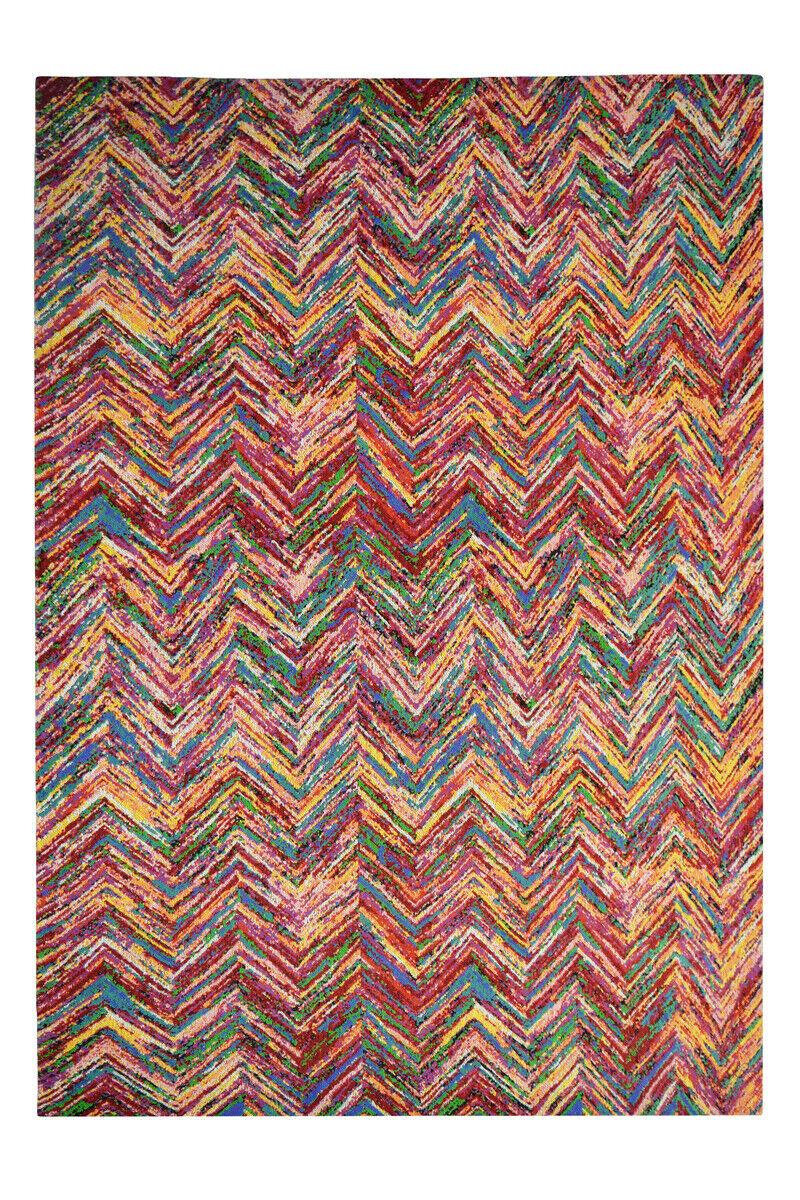 Confectionnées Tapis Laine 100% coton arêtes Design Tapis 160x230cm