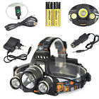 13000lm Boruit 3X XM-L T6 LED USB Headlamp 2X18650 Head light Torch Flashlight