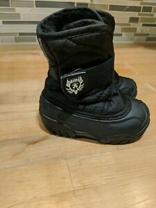 New Kamik Toddler Insulated Waterproof Warm Winter Snow Boots Black Size 5