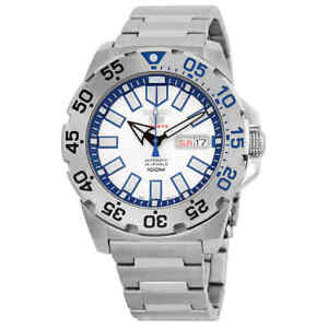 Seiko-Baby-Monster-Automatic-Stainless-Steel-Men-039-s-Watch-SRP481