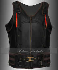 New Dark Knight Rises Batman Bane Synthetic Leather Vest Jacket In High Quality
