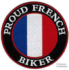 PROUD-FRENCH-BIKER-embroidered-PATCH-FRANCE-EMBLEM-FLAG-iron-on-francaise-VEST