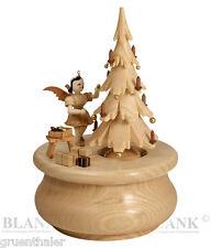 Spieldose /Spieluhr Kurzrock-Engel Weihnachtstraum natur Blank Erzgebirge SP 022