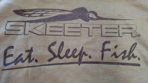 NEW Skeeter Boats, Military Green TShirts, with Skeeter Eat.Sleep.Fish. Logo