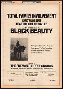 THE ADVENTURES OF BLACK BEAUTY__Original 1972 Trade AD / TV promo__JUDI BOWKER