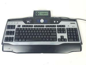 Logitech G15 Wired USB Gaming Keyboard Backlit Keys Illuminated Screen Y-UG75
