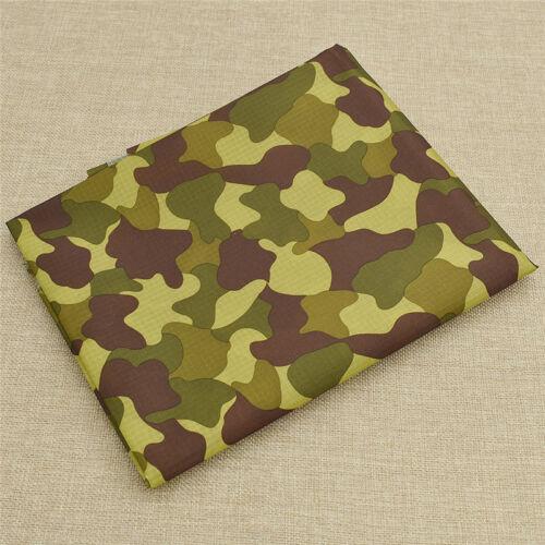 Camouflage Printed Waterproof Ripstop PU Fabric Outdoor Coating Bag Material