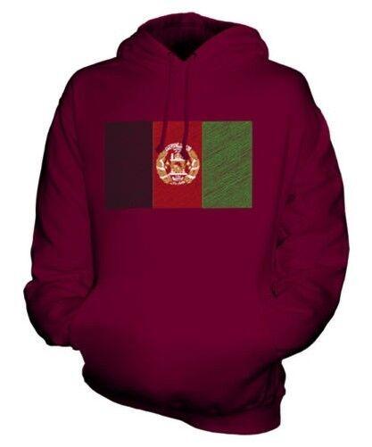 AFGHANISTAN SCRIBBLE FLAG UNISEX HOODIE TOP GIFT AFGHANESTAN AFGHAN