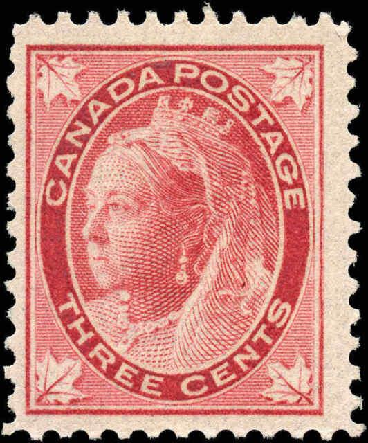 1897 Mint NH Canada F+ Scott #69 3c Maple Leaf Issue Stamp