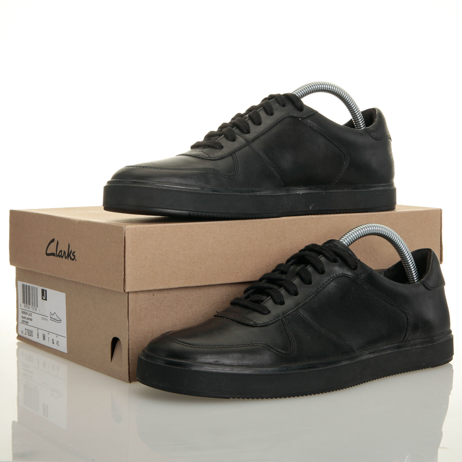 Clarks Norsen Black Leather Lace Up