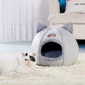 Pet-Dog-Cat-Tent-House-Kennel-Winter-Warm-Nest-Soft-Sleeping-Foldable-Pad-M-F8S7