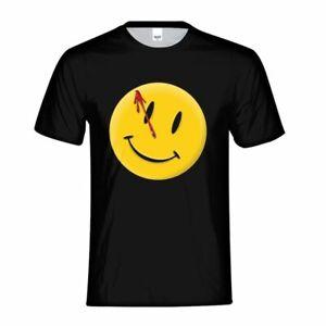Watchmen-comic-book-series-Bloody-Smiley-T-shirt-noir-homme-tee-shirt