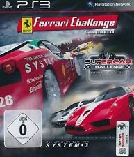 Playstation 3 RACING DOUBLE PACK Ferrari Challenge + Supercar Challenge  Neuwert