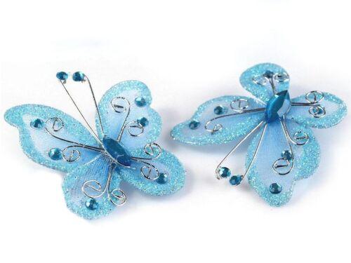 50mm 1 mariposa imperdible decoración bricolaje streuartikel brillo aprox
