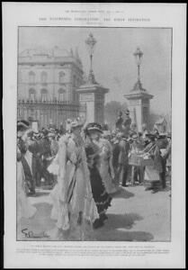 1902-Antique-Print-LONDON-Coronation-Buckingham-Palace-Foreign-Envoys-11