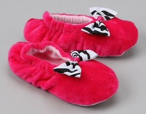 fbc9391c3f6aa Details about New Soft Toddler Baby Girl Hot Pink Zebra Fuzzy House  Slippers Kids Shoes