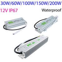 Dc Power Supply Adapter Waterproof Transformer 12v 30w 60w 100w 200w Led Strip