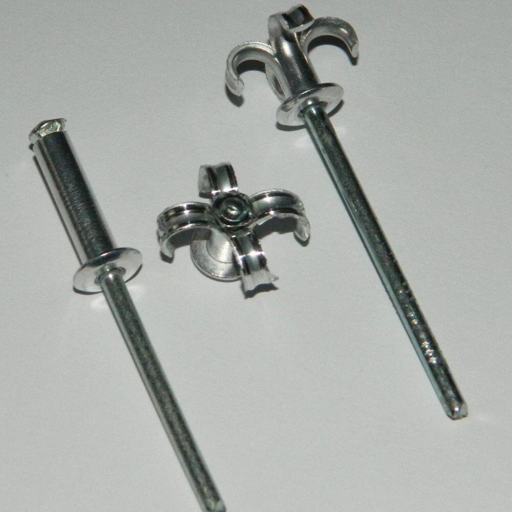 1.000 Stk. SPREIZNIETEN 4,8x18 Alu Stahl  Flachkopf ,,Sonderangebot,,