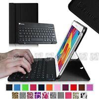 Fintie Slim Shell Case Bluetooth Keyboard Cover For Samsung Galaxy Tab 4 10.1