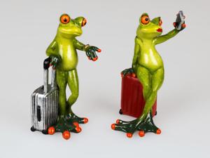 Formano Figur Skulptur Frosch mit Koffer Urlaub Reise verreisen Frösche 717511