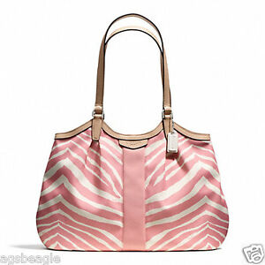 Paypal-Coach-Bag-F24022-SIGNATURE-STRIPE-ZEBRA-PRINT-DEVIN-SHOULDER-PINK-COD
