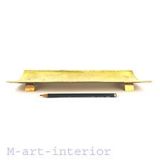 modernist Messing Schreibtisch Stift Ablage Utensilo 60er Brass Pen Holder 1960s
