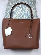 "Calvin Klein handbag 12""x16"" Shoulder Bag  Brown 100% Authentic NEW$268"