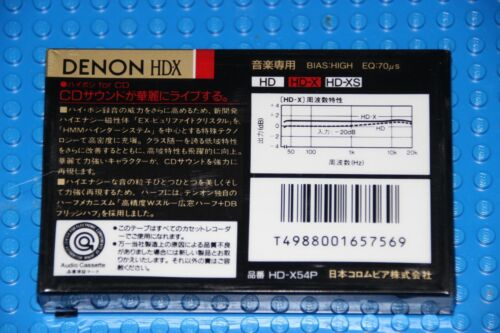 1 SEALED DENON HD-X  54  VS II   BLANK CASSETTE TAPE