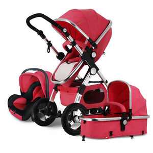 f6b0f97cecb5 Details about New 3 in 1 Baby Stroller High View Pram Car Seat jogger  Carriage pushchair