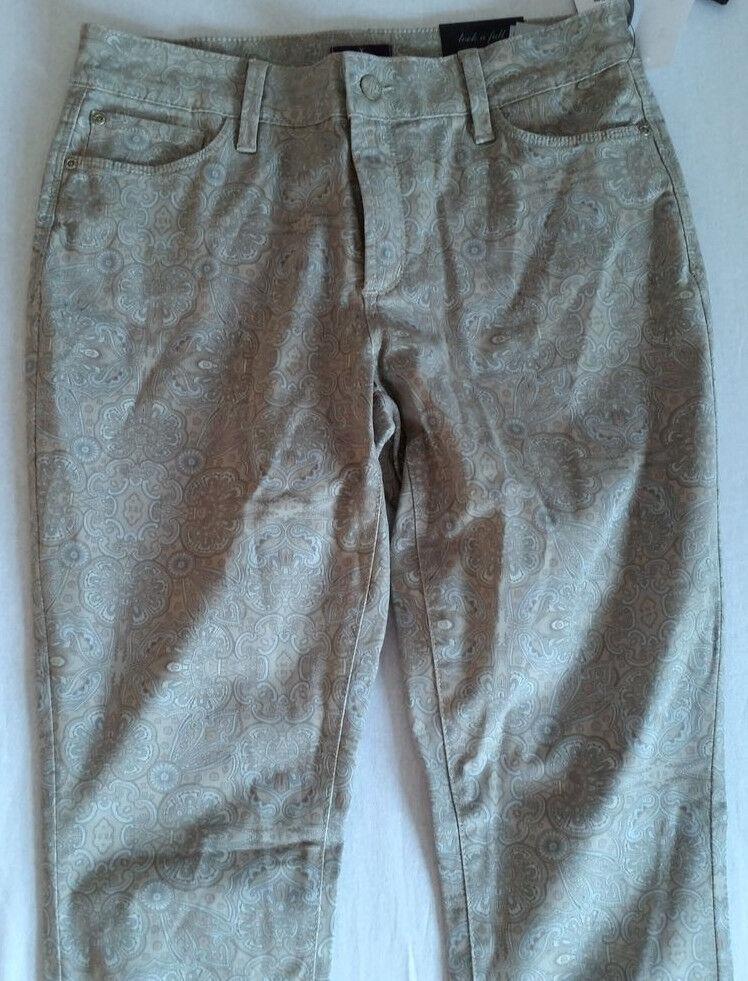 NYDJ Jeans Alina Ornate Pal Size D38-UK12-USA8-F40 New