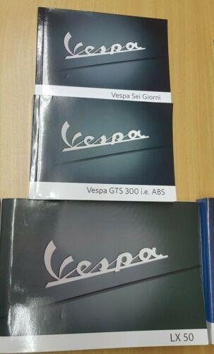 Various models Genuine Piaggio Gilera and Vespa Owners Books