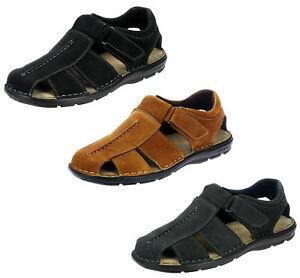 Details zu Herren Leder Sandalen Trekkingsandale Freizeit Halbschuhe Sommer Schuhe 8832