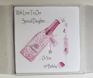 Image Is Loading Personalised 30th Birthday Card Daughter Prosecco 18th 21st