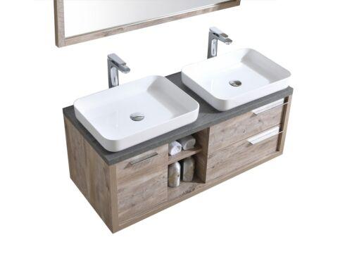 Unterschrank Schrank Spiegel Badezimmer Badmöbel Vermont 120 cm nature wood