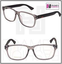 8a3db8ceb1d GUCCI 0011 Matte Black Grey STRIPE RX Eyeglasses Optical Frame 56mm GG0011OA