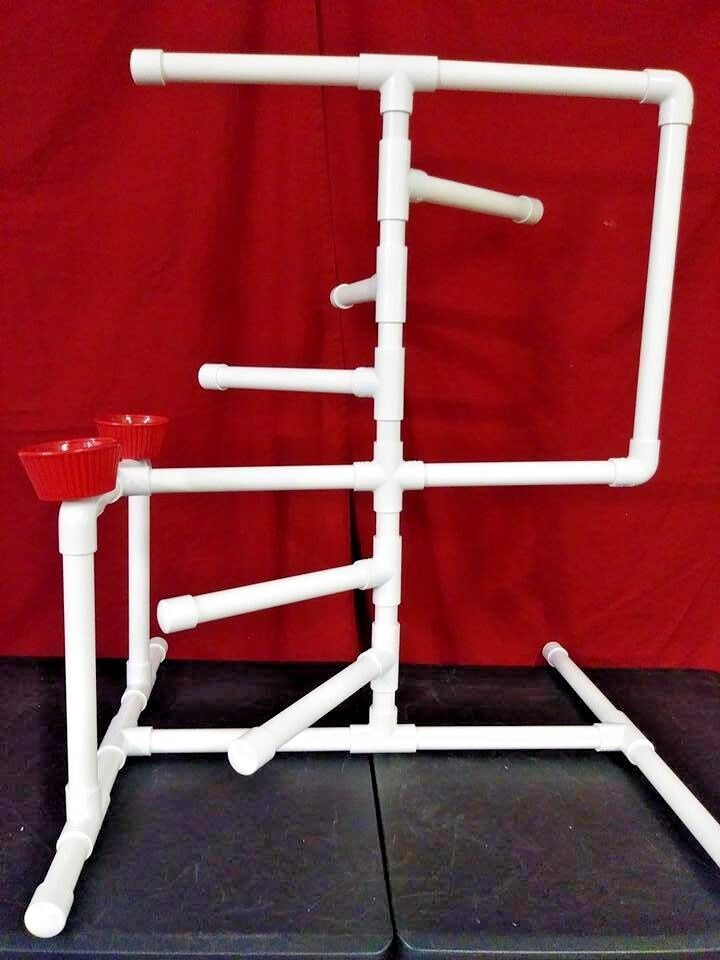 Large 3 4  PVC Parred Spiral Stair Climbing Perch Fun Gym\Stand \ Textured