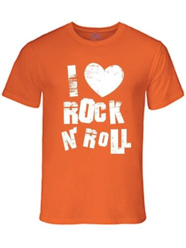 NW Mens Printed I Love Rock /& Roll Gym Hipster MMA Funny Graphic Cotton T-Shirt