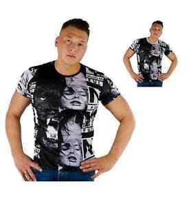 ReRock-T-Shirt-Kurzarm-Rundhals-Slim-Fit-Herrenshirt-Freizeit-Shirt-Neu