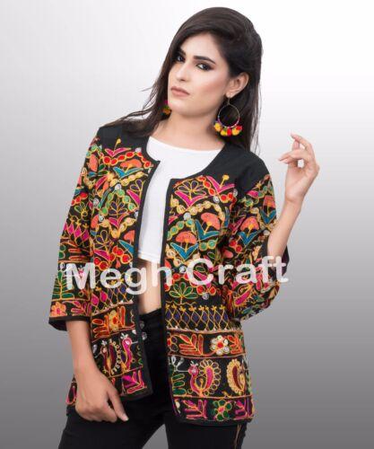 Broderet Gujarati Jakke Jakke Slid mode Designer Bohemian Banjara Kutch awzFxT5p